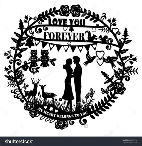 Stock-vector-paper-cut-arts-silhouette-of-man-and-woman