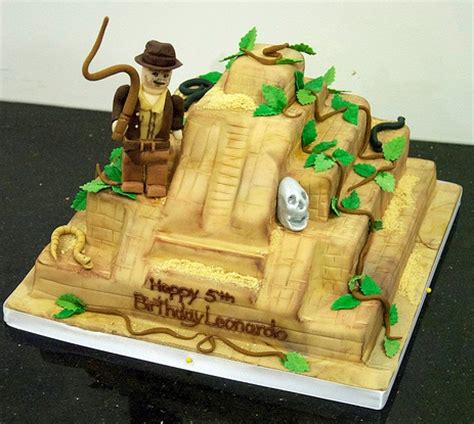 share indiana jones birthday cake    homemade