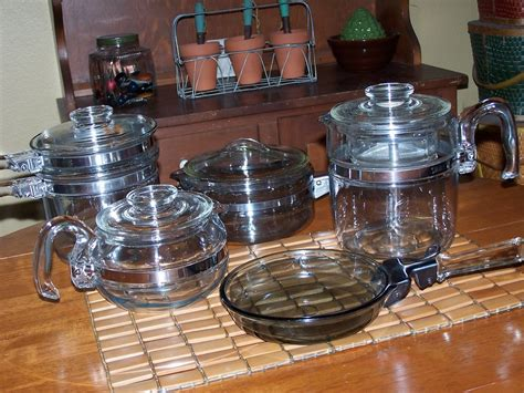 pyrex cookware collection stove pot coffee percolator