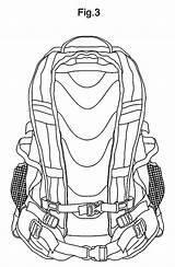 Backpack Coloring Camping Netart Drawing Backpacks sketch template