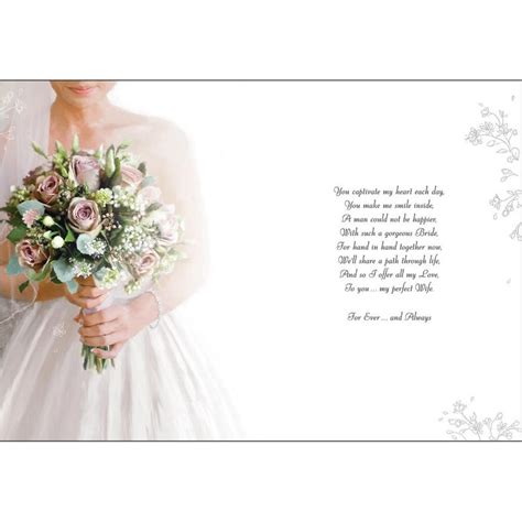 beautiful bride   wedding day large wedding day card karenza paperie