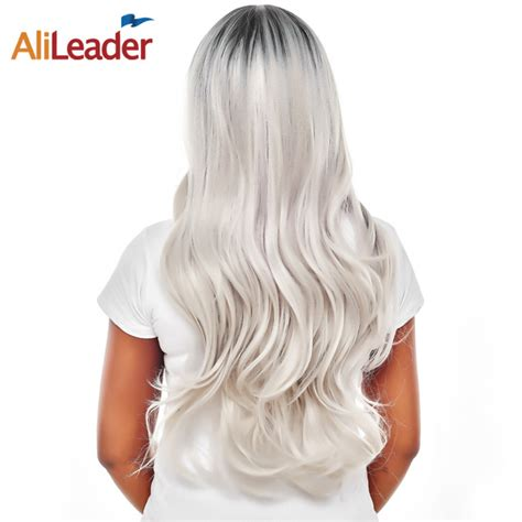 Alileader Product Black To Gray Wig Long Body Wave 26 Inch
