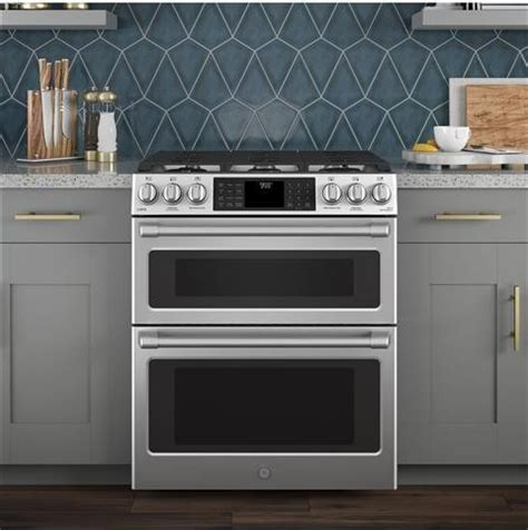 csselss cafe    dual fuel double oven range convection  clean