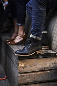 Black Men Style Fashion Boots