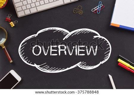 OVERVIEW Written On Chalkboard Stock Photo (Royalty Free ...