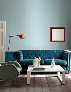 les 25 meilleures idees de la categorie canape bleu canard With beautiful couleur pour mur salon 3 osez une deco couleur bleu canard dans votre interieur
