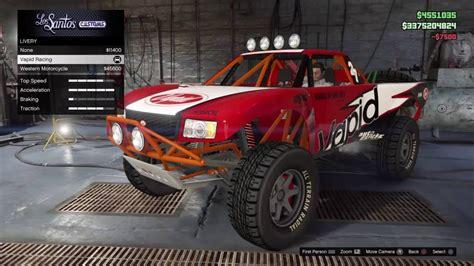rally truck build gta 5 online vapid trophy truck rally truck build youtube