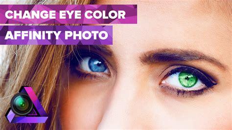 change eye color    affinity photo