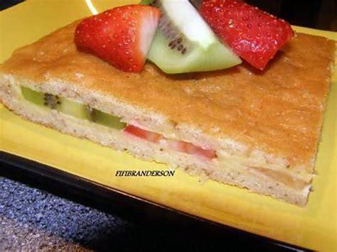recette de gateau frais au flan et aux fruits