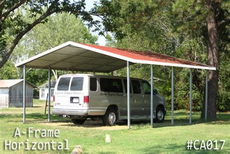 Metal Carport Roof by A Frame Horizontal Roof Carports Boxed Eave Carports