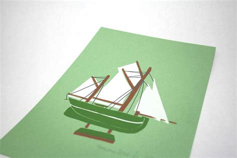 Boat Green Screen by Green Boat Screen Print By Memo Illustration
