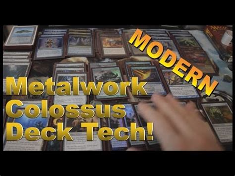 fun modern metalwork colossus deck tech mono blue youtube