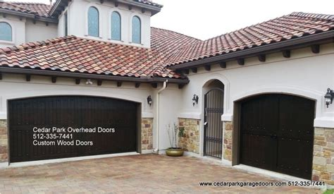 custom wood garage door refinishing