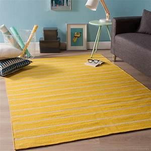 tapis en plastique tisse rendu coton rayures eastport ps With tapis en plastique pour salon