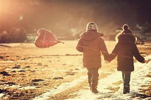 Boy And Girl Hand In Hand Holding Heart Baloon Stock Photo ...