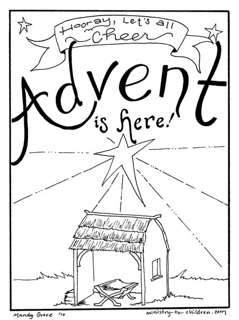advent coloring pages  kids christmas printables