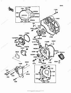 Kawasaki Motorcycle 1991 Oem Parts Diagram For Engine