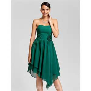 asymmetrical bridesmaid dress asymmetrical knee length chiffon bridesmaid dress green plus sizes dresses a