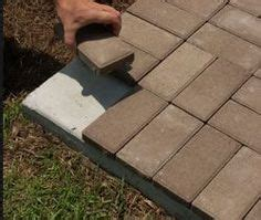 lay  thin pavers  concrete great