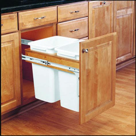 kitchen island with garbage bin kitchen trash cans built into cabinets or not