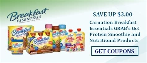 carnation breakfast essentials drinks coupon network
