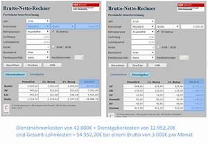 Lohnsteuer Berechnen 2016 : lohnkostenrechner brutto netto rechner f r arbeitgeber 2016 2017 ~ Themetempest.com Abrechnung