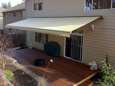 retractable patio awning retractable deck awnings rainier shade