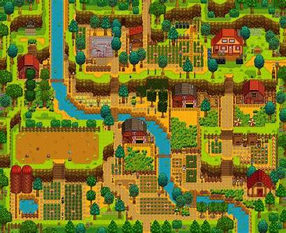 Farm Stardew Valley Layout Layouts Farms Hilltop