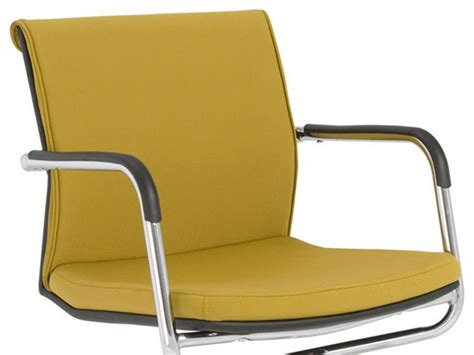 eurostyle baird visitor chair in mustard yellow chrome