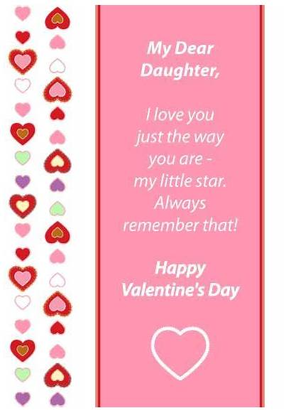 Daughter Valentines Printable Cards Valentine Quotes Daughters