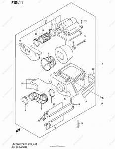 Suzuki Atv 2002 Oem Parts Diagram For Air Cleaner