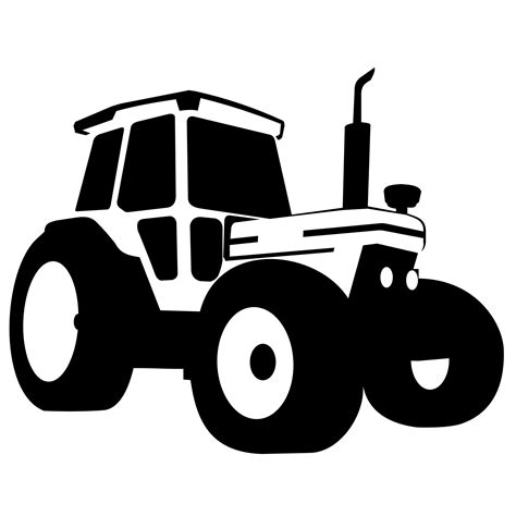 Vector for free use: Tractor vector