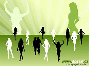 Fashion Woman Silhouettes Vector Free | 123Freevectors