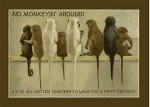 Monkey Business Funny Birthday. Free Boss & Colleagues ...