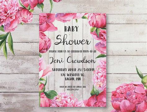 printable baby shower templates   images