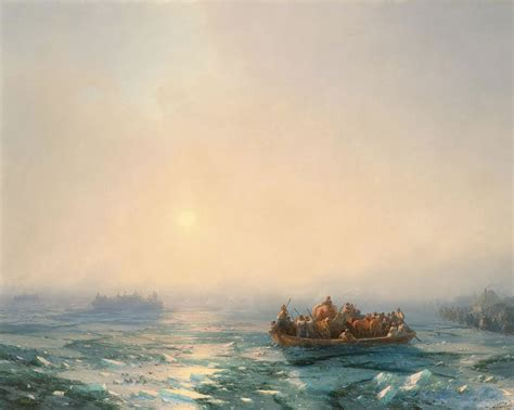 Ice In The Dnieper, 1872  Ivan Aivazovsky Wikiartorg