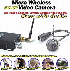 Complete Kit     Mini Wireless Color Spy Cam  Smallest