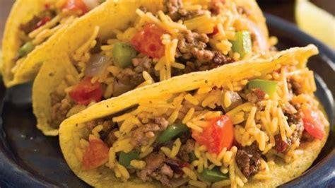 mexican rice beef tacos recipe allrecipescom