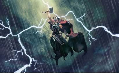 Thor Hammer Thunder Jane Wallpapers Foster Lady