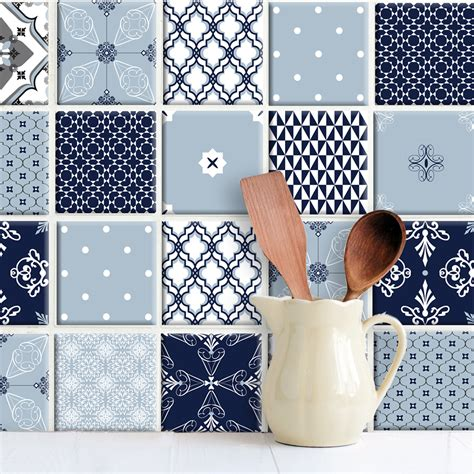 Fliesenaufkleber Wie by Patchwork Emily Blau Fliesenaufkleber Set Wand Akzente