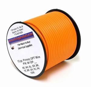 Orange 12 Gauge Primary Wire 100 Ft  Spool