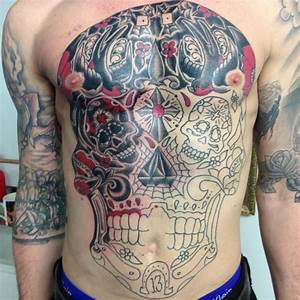 Chest And Stomach Tattoos Full Chest And Stomach Outline