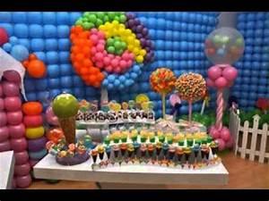Candyland decorations ideas - YouTube