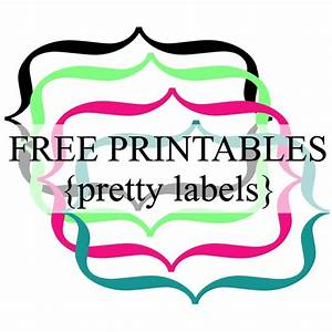 Pretty Label Borders {Free Printables} | Frames, Labels ...