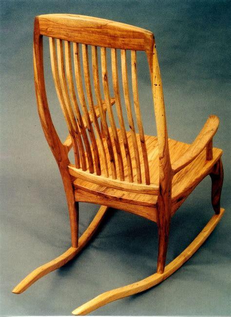 custom handmade rocking chair in pecan