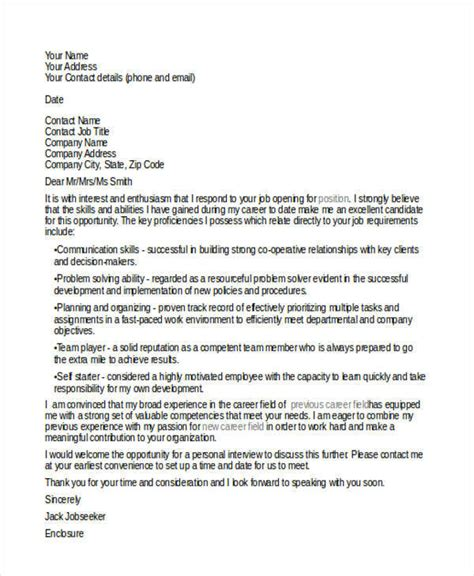 cover letter career change  examples  word