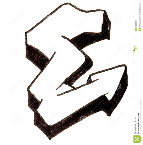 graffiti letter e letter e alphabet in graffiti style stock image image 24684