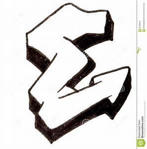 Letter E, Alphabet In Graffiti Style Stock Image - Image ...