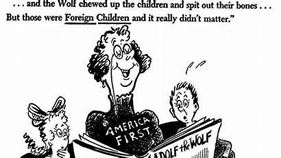 Seuss Dr Cartoons Political Privilege Library Trump