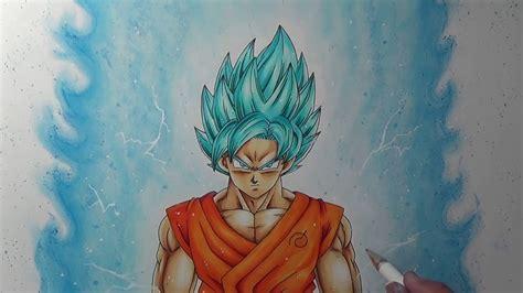 drawing goku super saiyan blue full body youtube